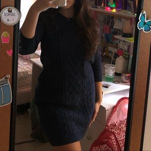 Old Navy blue sweater dress